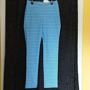 NEW J McLaughlin Masie stretch PRINT pants Preppy